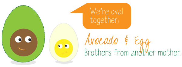 Avocado &amp; Egg - Oval Together