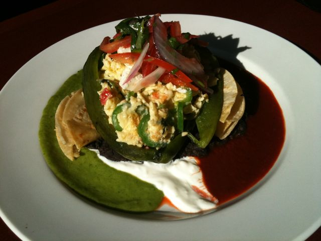 jalapeño Scramble Stuffed Pablano Pepper