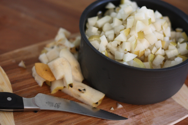 Diced Asian Pears